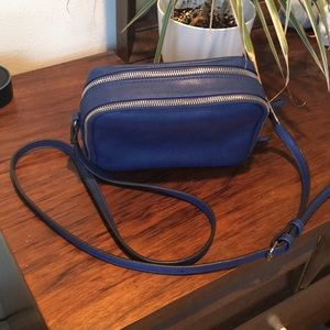 Sole Society Faux Leather Crossbody - Cobalt